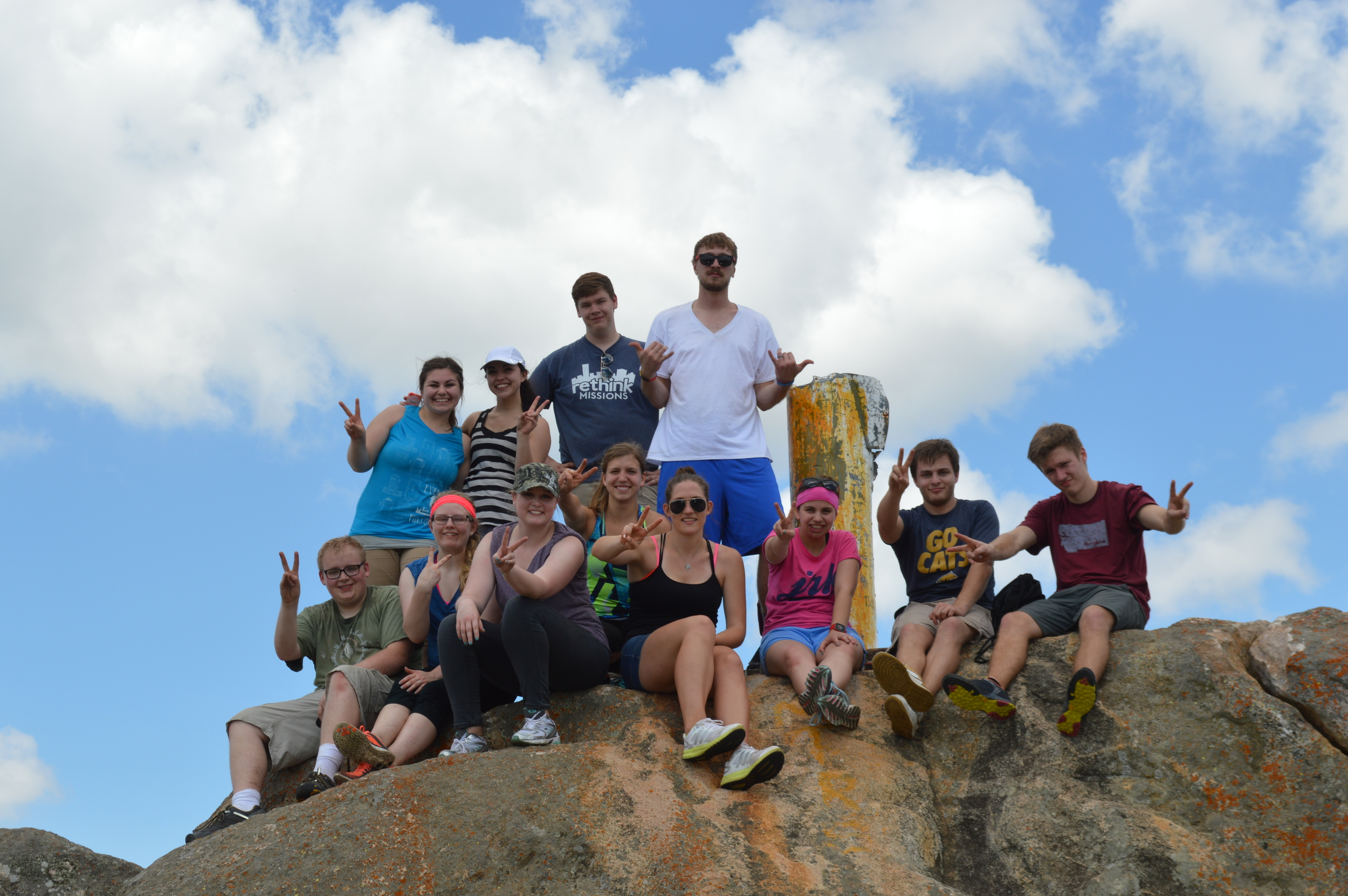 After completing our hike up Legogote mountain! Everyone who went on the hike made it to the top.