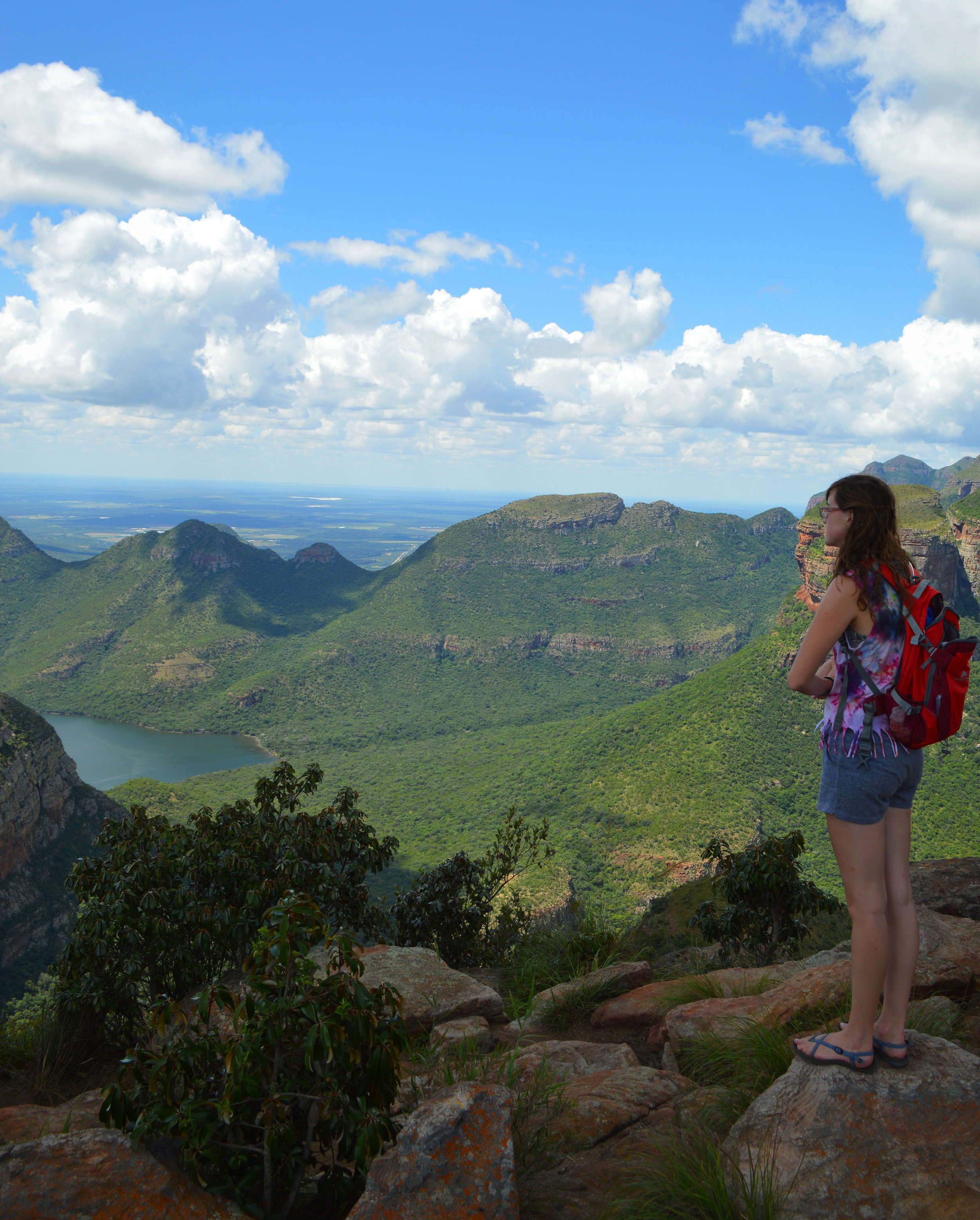 Becca overlooking the largest green canyon in the world