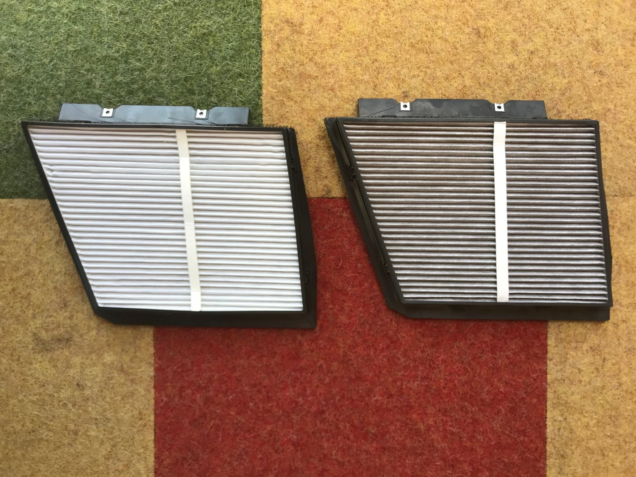 New and Old Cabin Air Filter