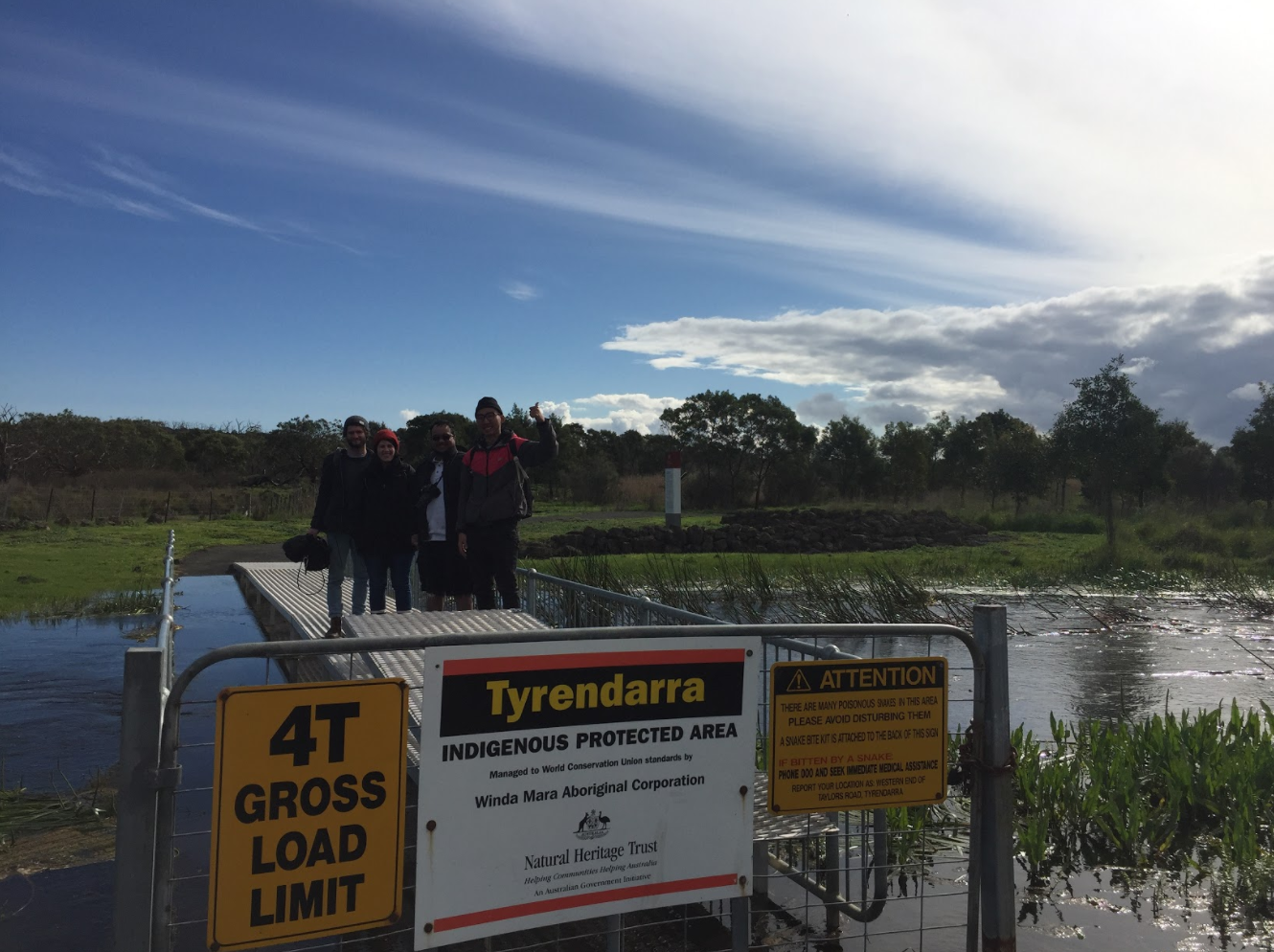 RMIT MASTER OF MEDIA STUDENTS AT TYRENDARRA INDIGENOUS PROTECTED AREA