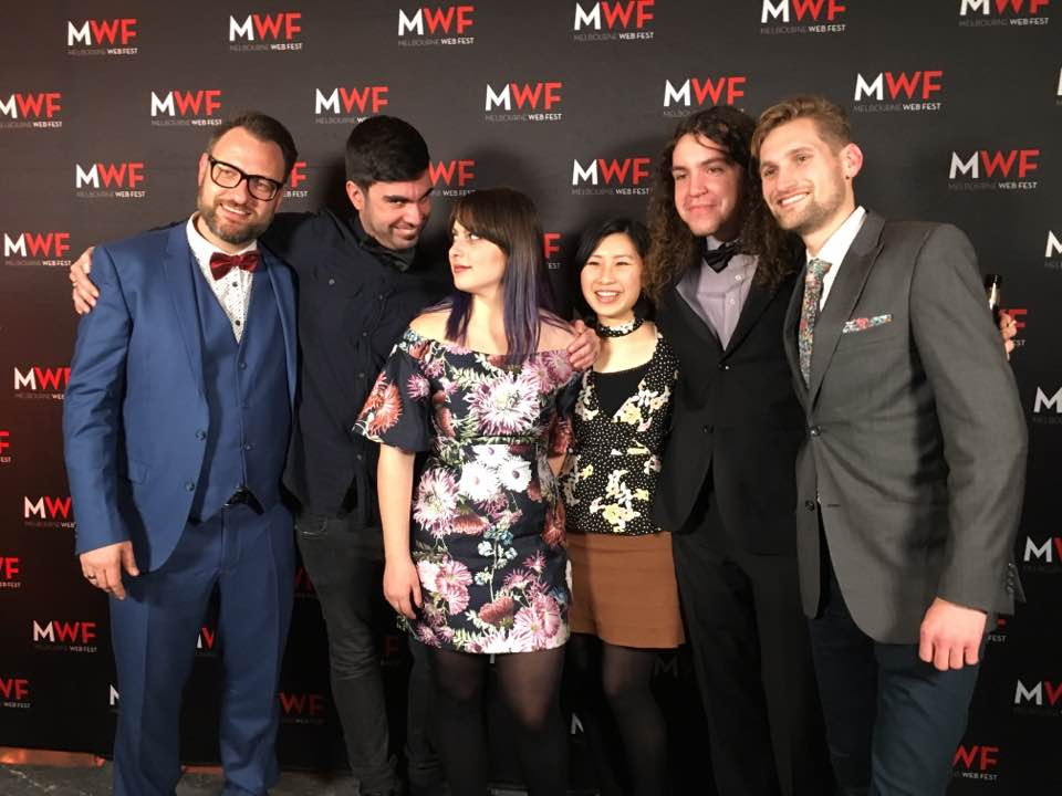 Former student Alexander Hipwell (first on right) is Content Director & General Manager at Melbourne WebFest