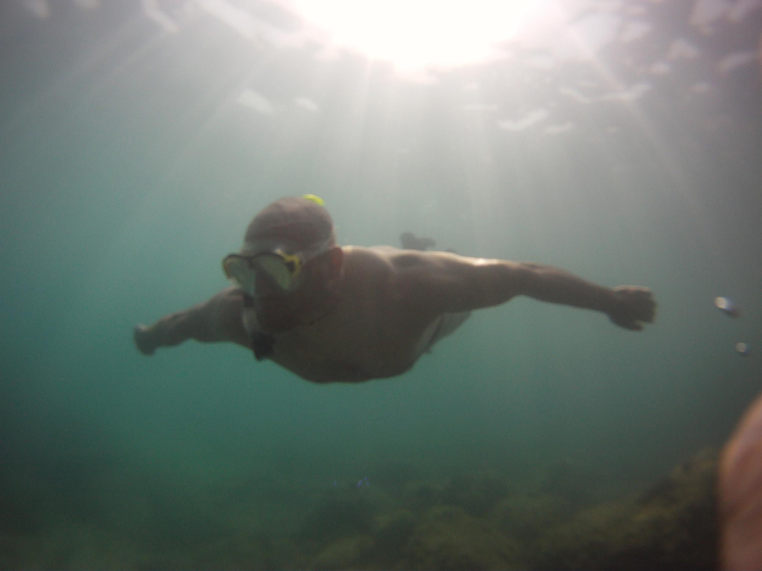 Snorkeling in the Mediterranean sea Spain