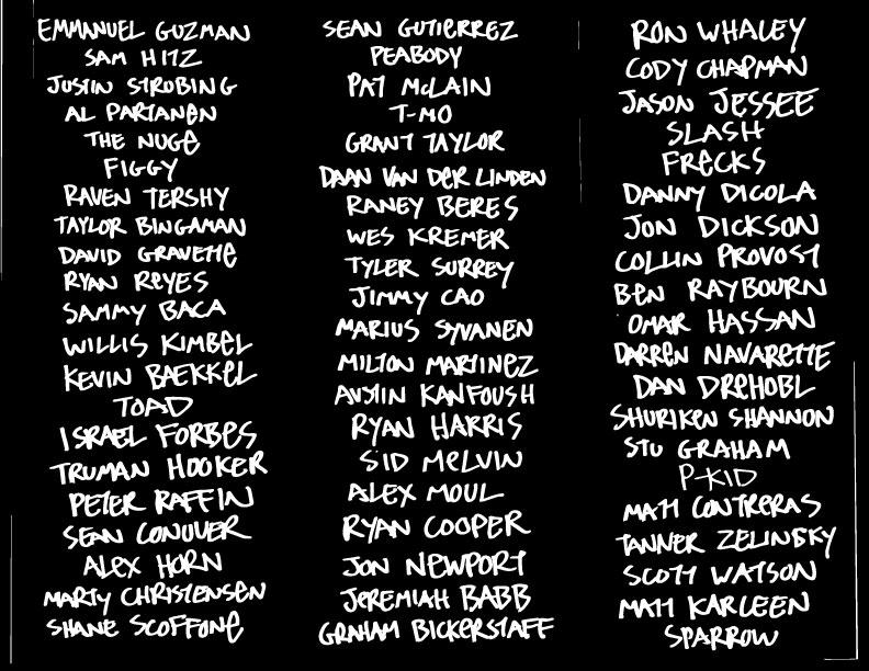 DAF Made Team List