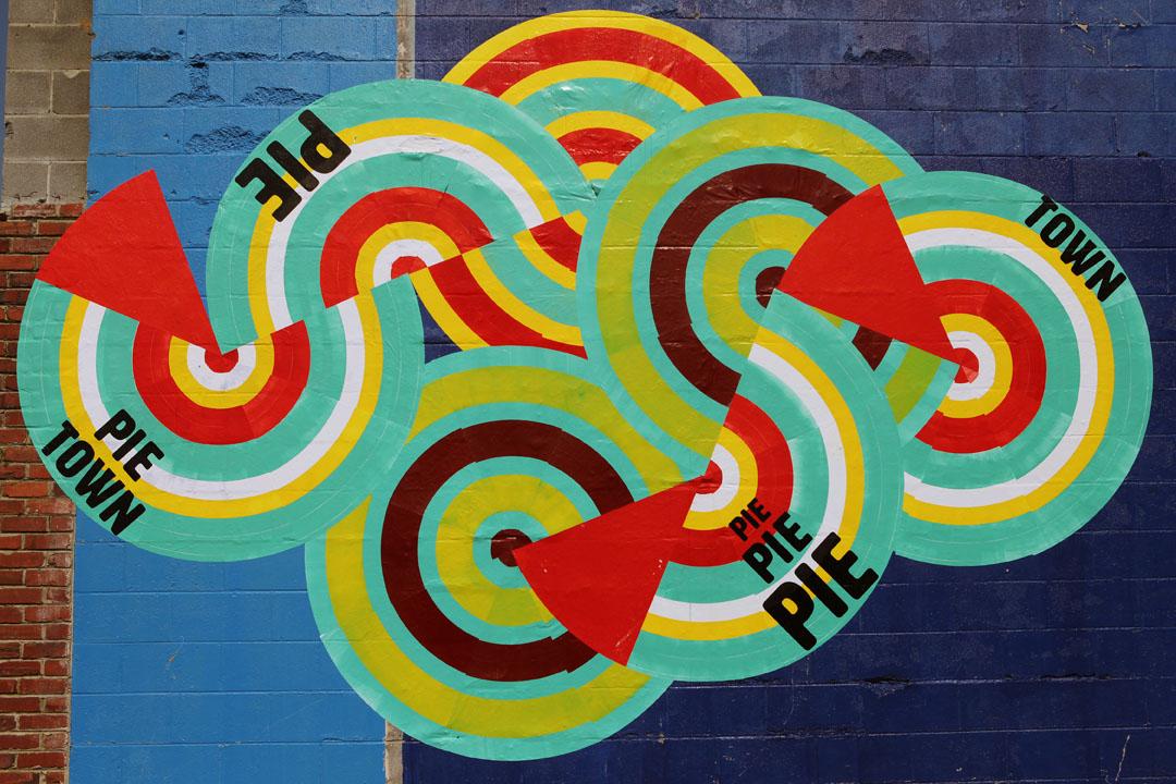 PIE TOWN MURAL ON MIDDLETON ST. BESIDE PLAZA ART SUPPLY!