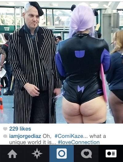 This picture is a perfect snapshot into the world of ComiKaze -  courtesy of  Jorge Diaz   .