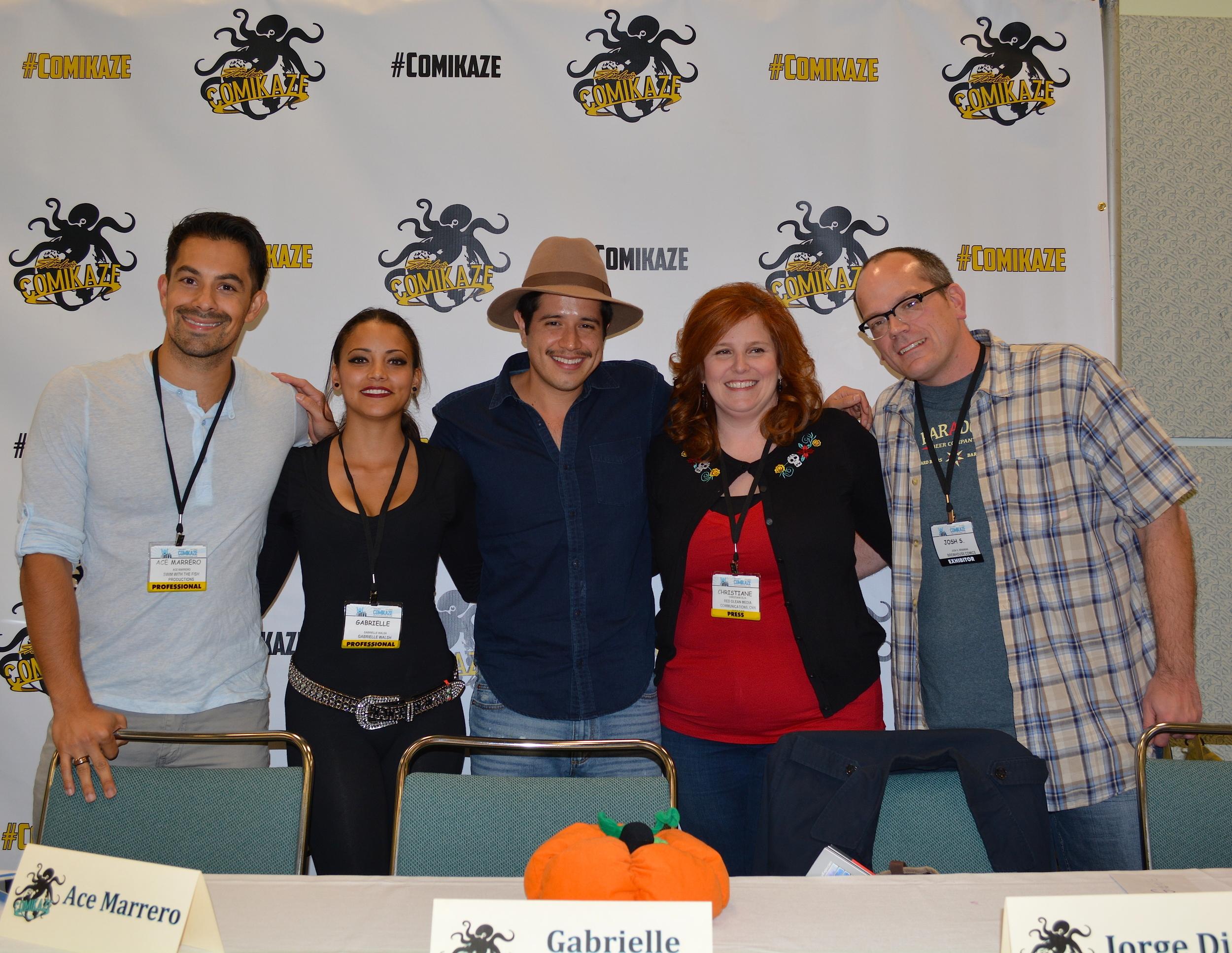 Horror Panel on Friday. From left to right: Ace Marrero, Gabriella Waljs, Jorge Diaz, Christiane Elin, Josh Henaman.