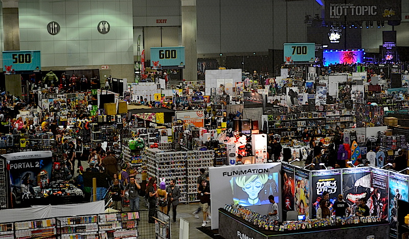 A view of theexhibition hall from above. © West of The Rockies