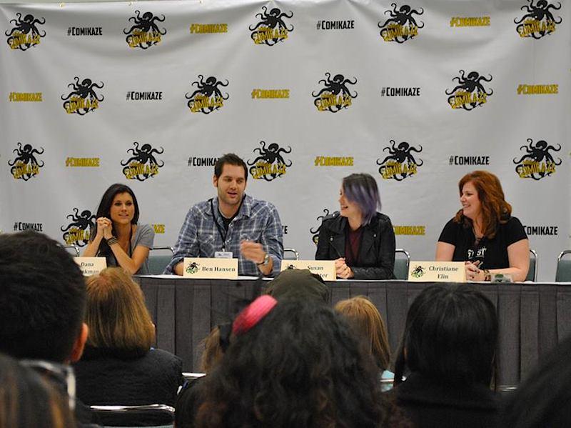 Paranormal Adventures panel. From left to right: Dana Workman, Ben Hansen, Susan Slaughter, Christiane Elin.  Photo: Rich Rodriguez