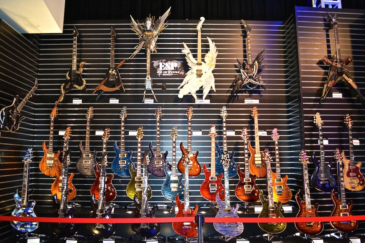 The amazing ESP  Guitars Custom Shop, NAMM 2015