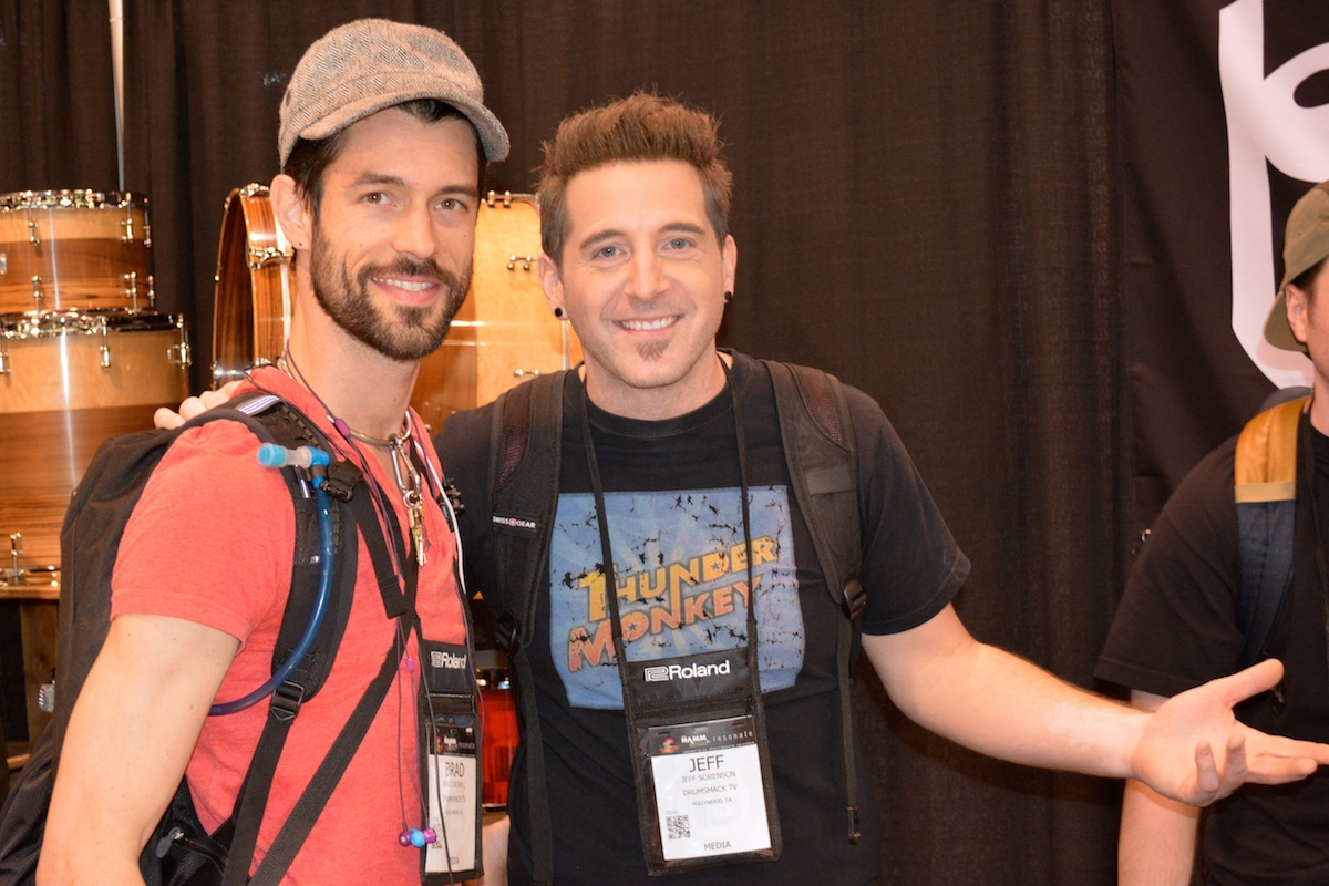 Brad and Jeff of Drumsmack TV , NAMM 2015.