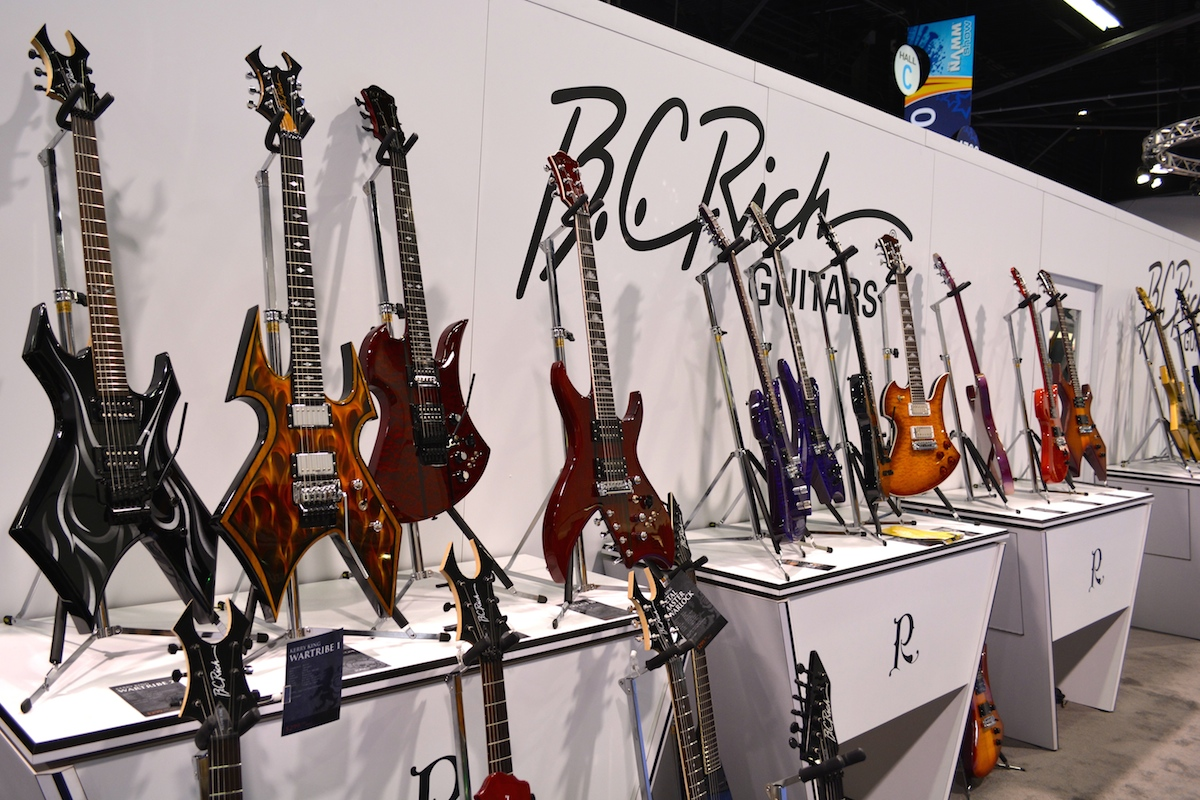B.C. Rich Guitars, for all those who want to look super heavy. NAMM 2015. ©WoTR Radio