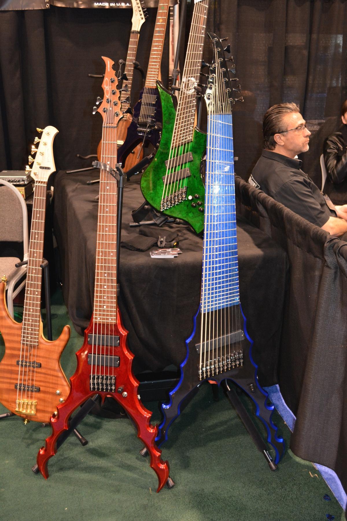 11-String ERB Bass, anyone? by SVS Designs, NAMM 2015. ©WoTR Radio