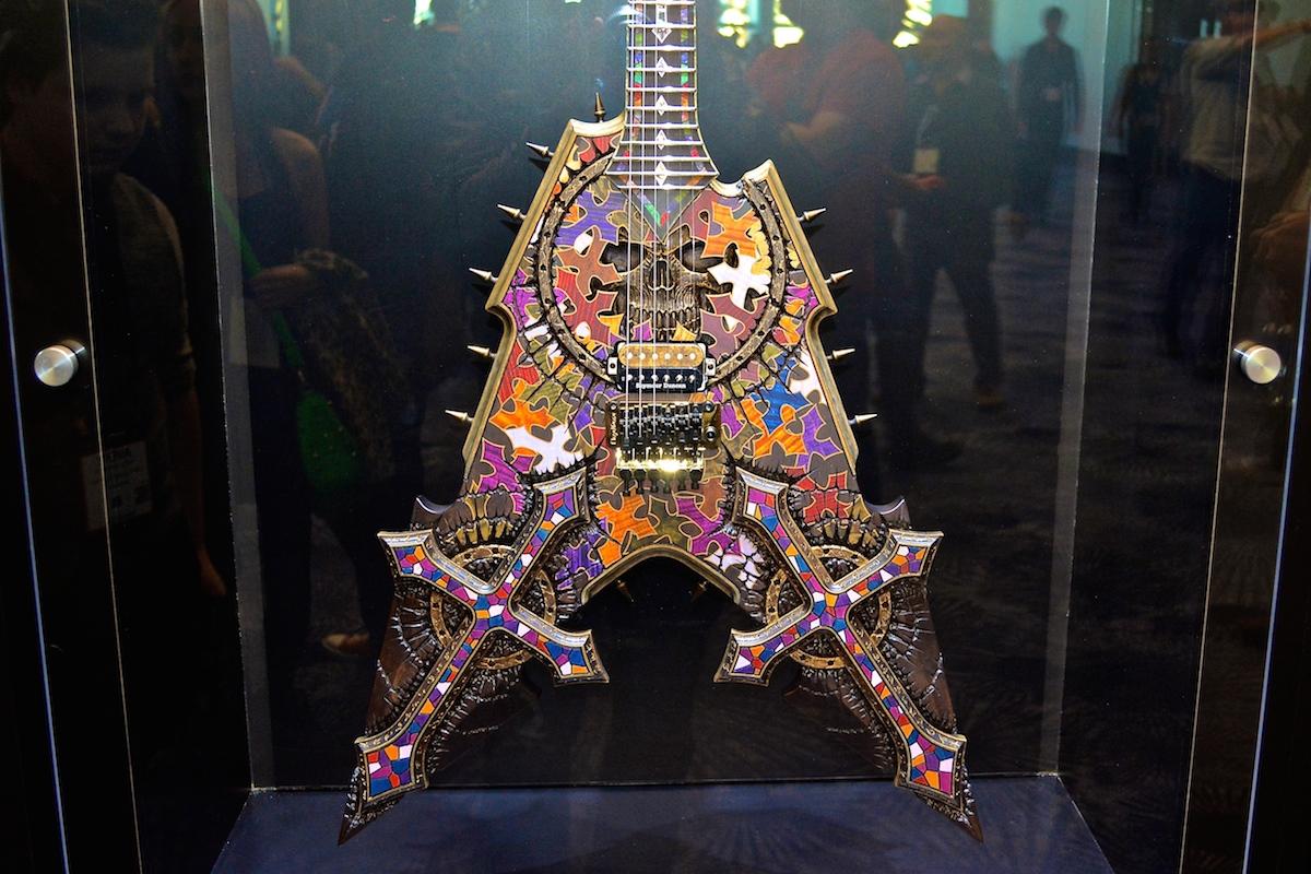 ESP Custom Guitar, NAMM 2015. ©WoTR Radio