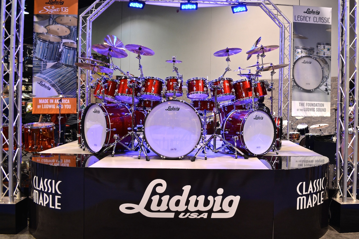Now that's a drum kit. Ludwig @ NAMM 2015. ©WoTR Radio