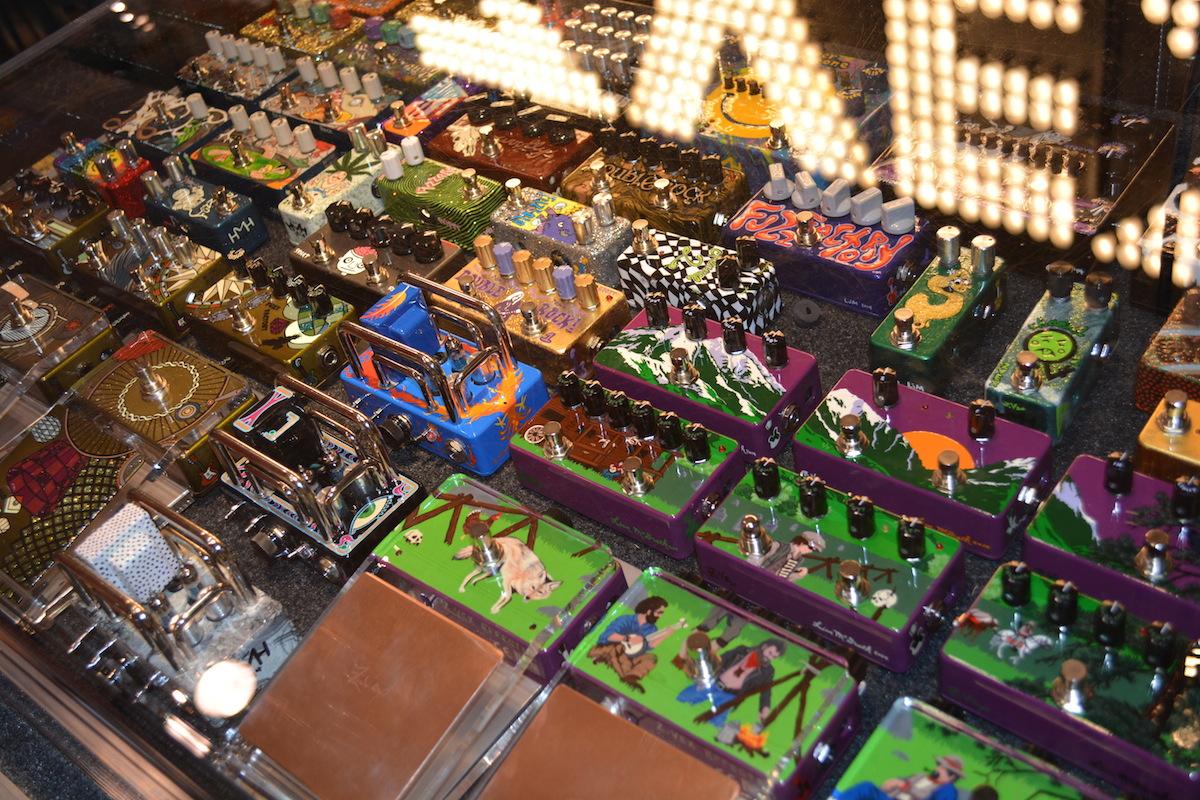 Superfunky pedals, by Zvex Effects, NAMM 2015. ©WoTR Radio