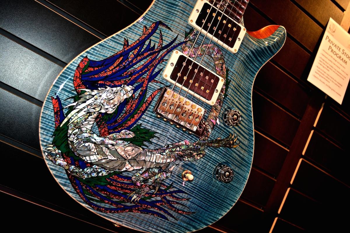 PRS 30th Anniversary Dragon (Private Stock), NAMM 2015. ©WoTR Radio