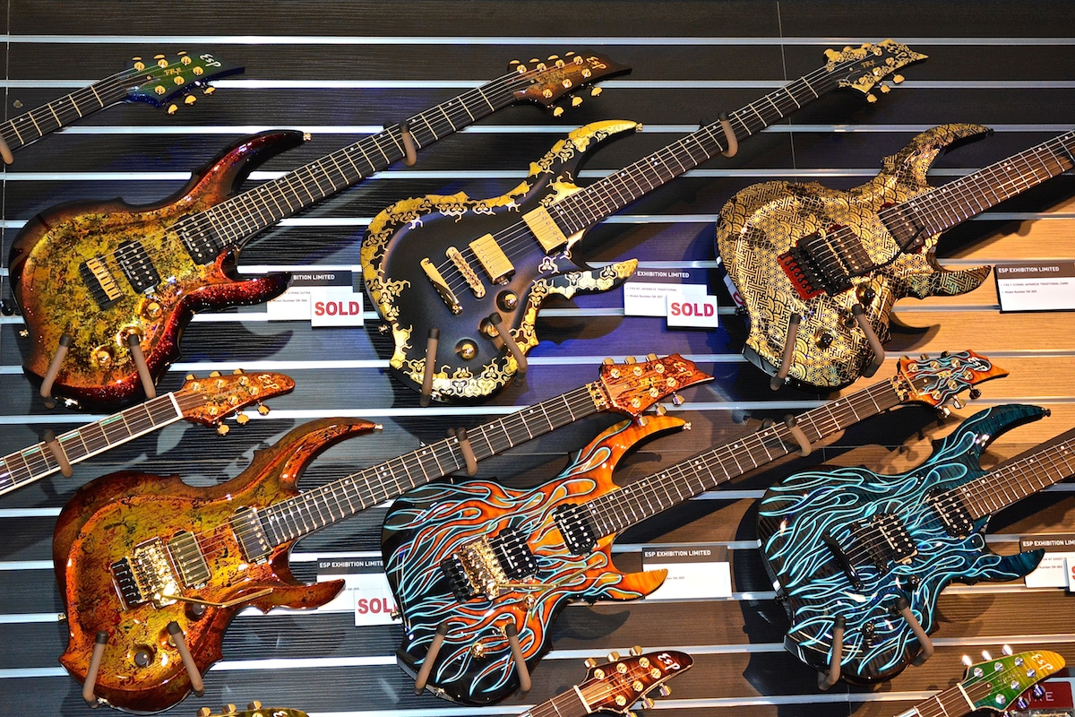 ESP Limited Edition guitars, NAMM 2015. ©WoTR Radio