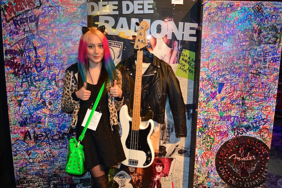 Dee Dee Ramone shrine @ Fender. NAMM 2015. ©WoTR Radio