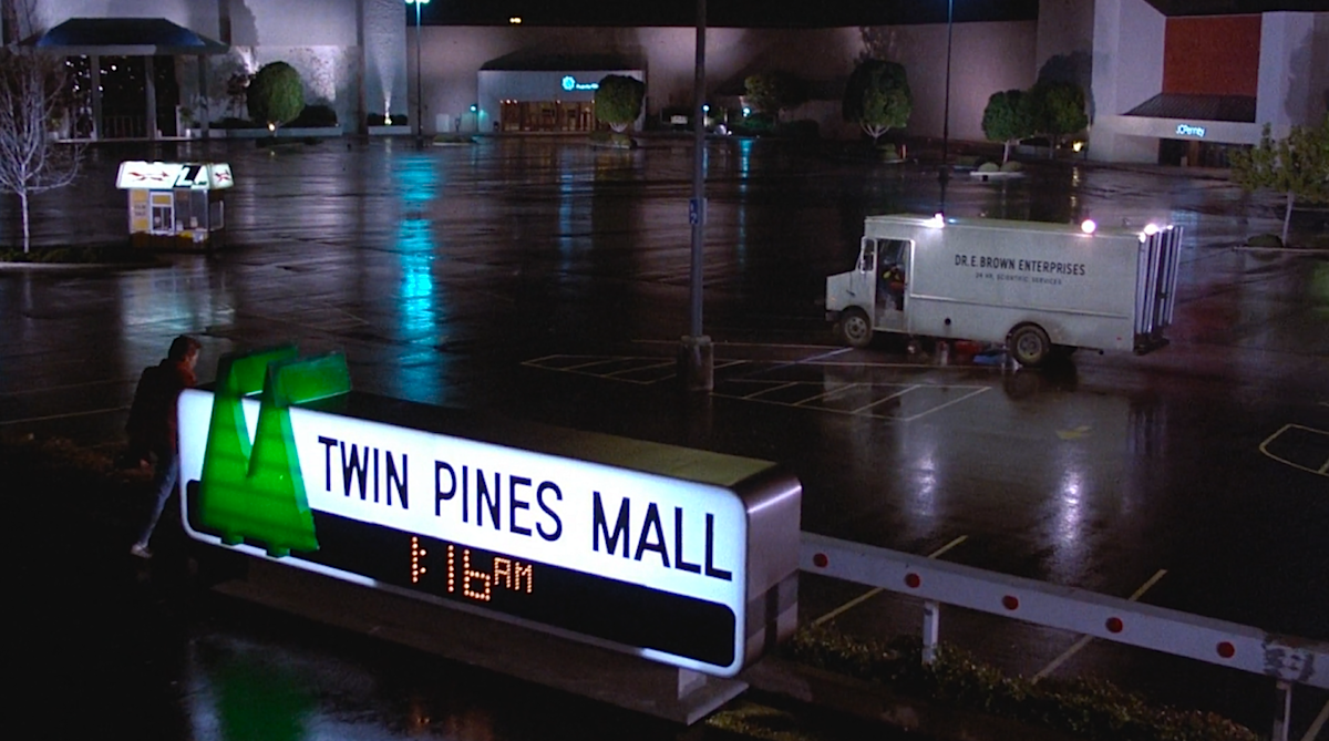 The  Twin Pines Mall , as seen in  Back To The Future II .