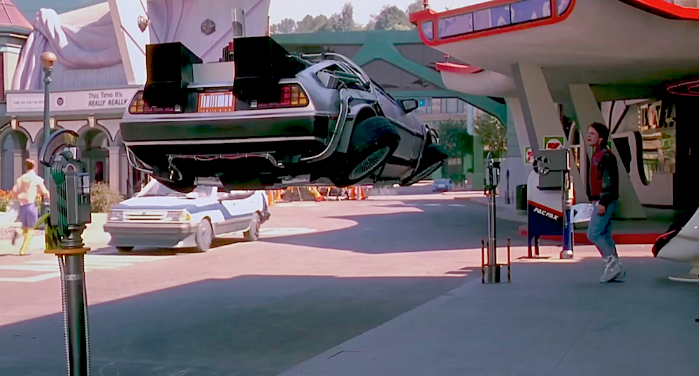 The fictional 2015 DeLorean, as seen in  Back To The Future II .