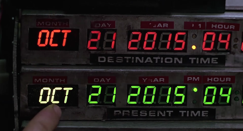 The iconic date from  Back To The Future 2 ; after which the movie will officially be a movie about the  past . Think about it.