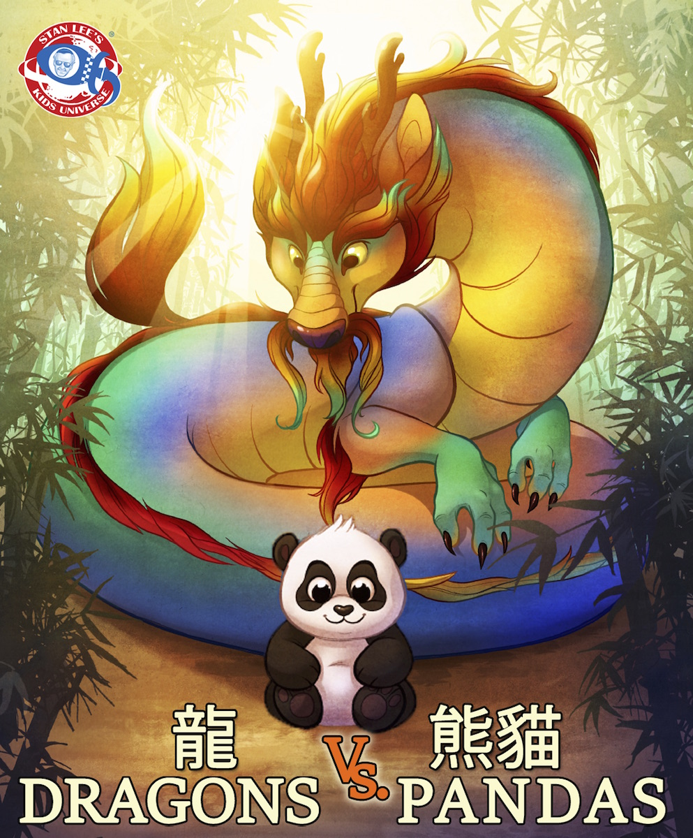 The final cover of the upcoming  Dragons Vs. Pandas .  Image courtesy of 1821 Media Group .
