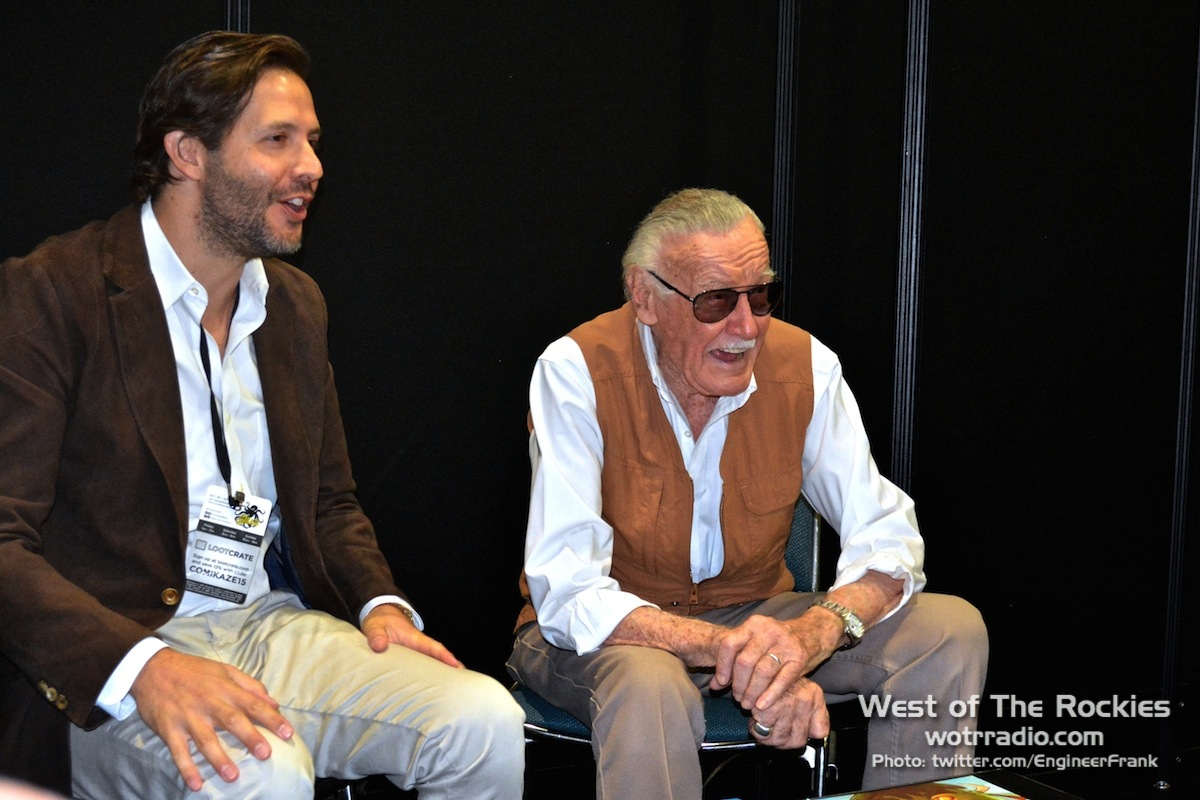 Stan Lee, never a frown on that man's face.