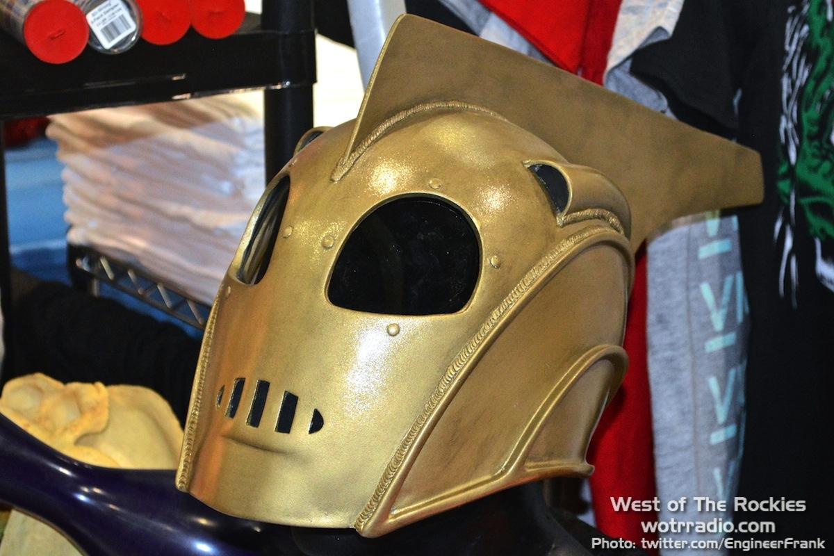 A handcrafted Rocketeer helmet.