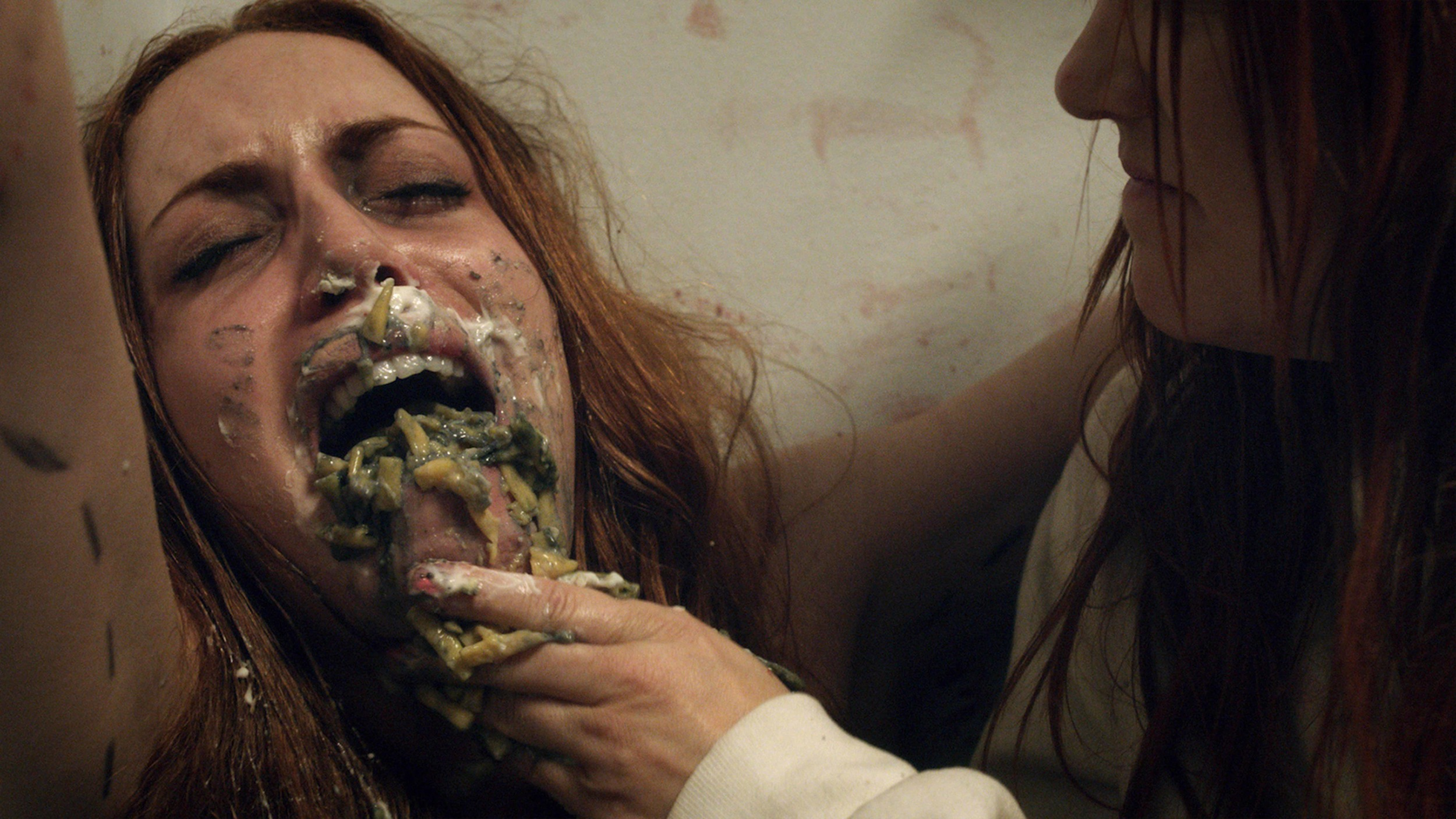 An intense movie still from  Excess Flesh . Photo used with permission.