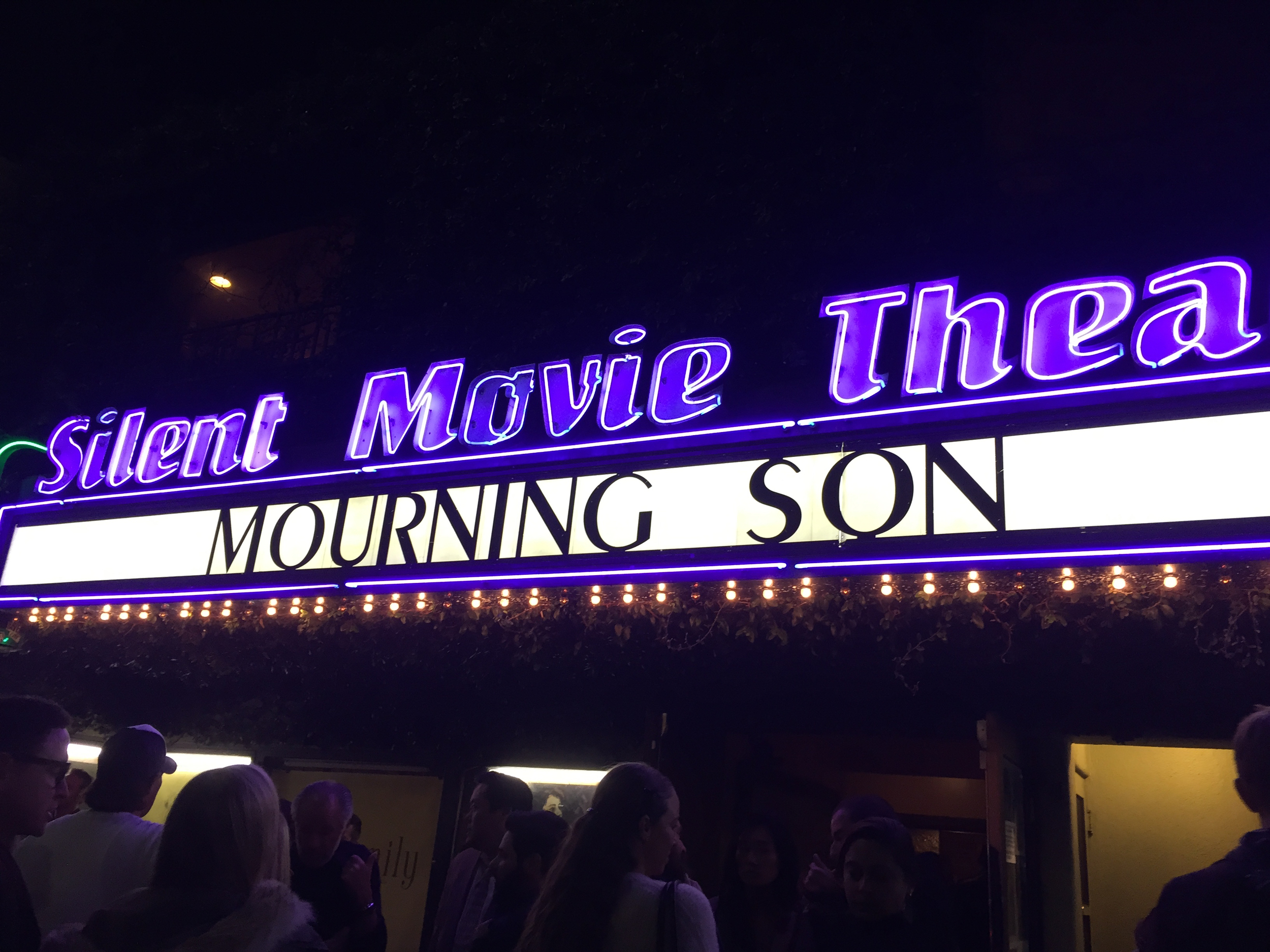 Mourning Son , Tuesday night's official release screening. Photo courtesy of Frank Argueta .