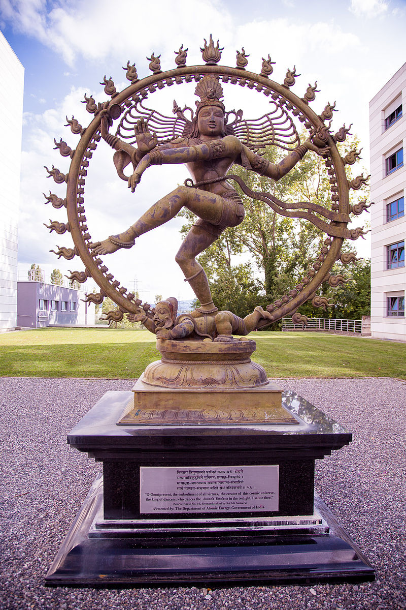 Statue of Shiva at CERN.  Photo Courtesy of   Wikipedia.