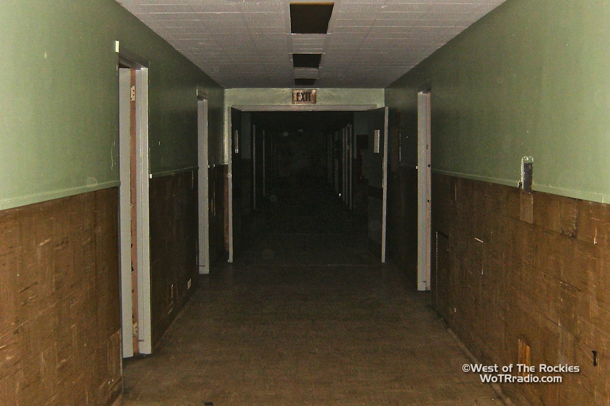 One of the many long, dark hallways in the abandoned Linda Vista Hospital - April 2011 ©WoTRradio