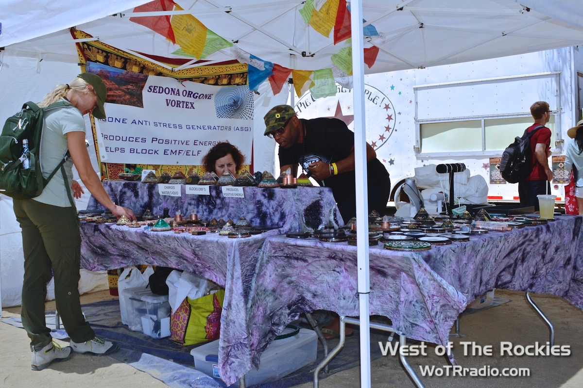 Sedona Orgone Vortex/Art That Works booth.