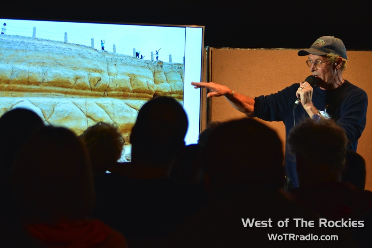 "Brien Foerster during his lecture, ""Aftershock: The Ancient Cataclysm That Erased Human History."""