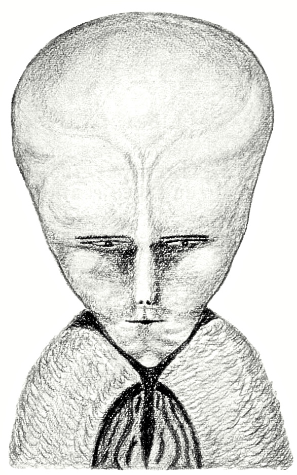 """""""THE WAY: Lam is the Tibetan word for Way or Path, and Lama is He who Goeth, the specific title of the Gods of Egypt, the Treader of the Path, in Buddhistic phraseology.""""  Drawing of Lam by Aleister Crowley as found in the commentary of Helena Blavatsky's """"The Voice of Silence,"""" published in  The Equinox III, no. I"""