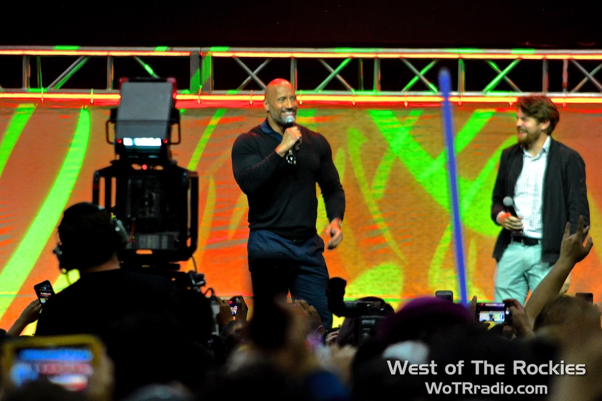 """Fan-favorite and Guest of Honour, Dwayne """"The Rock"""" Johnson on the Main Stage."""