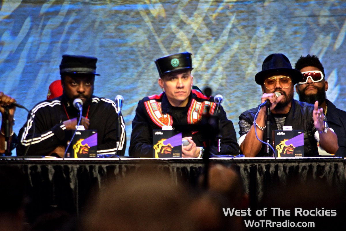 From left: will.i.am, Taboo & apl.de.ap of The Black Eyed Peas.
