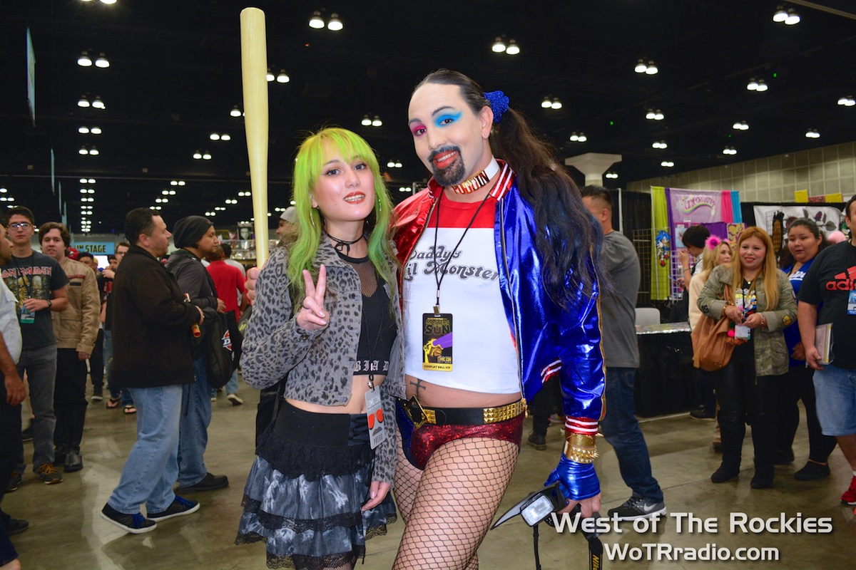 Coolest Harley Quinn at the show: