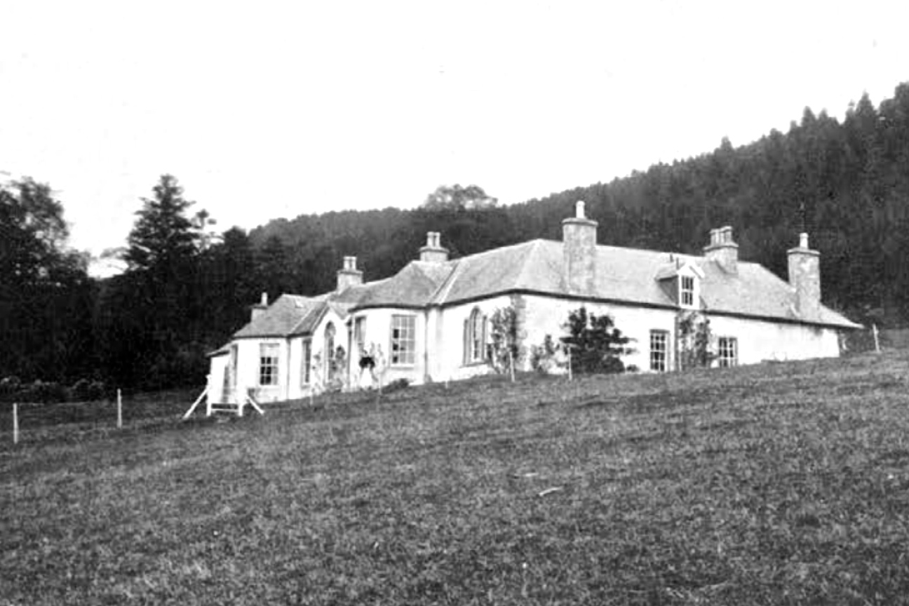 Boleskine House located on the south-east side of Loch Ness in Scotland. (circa 1912)