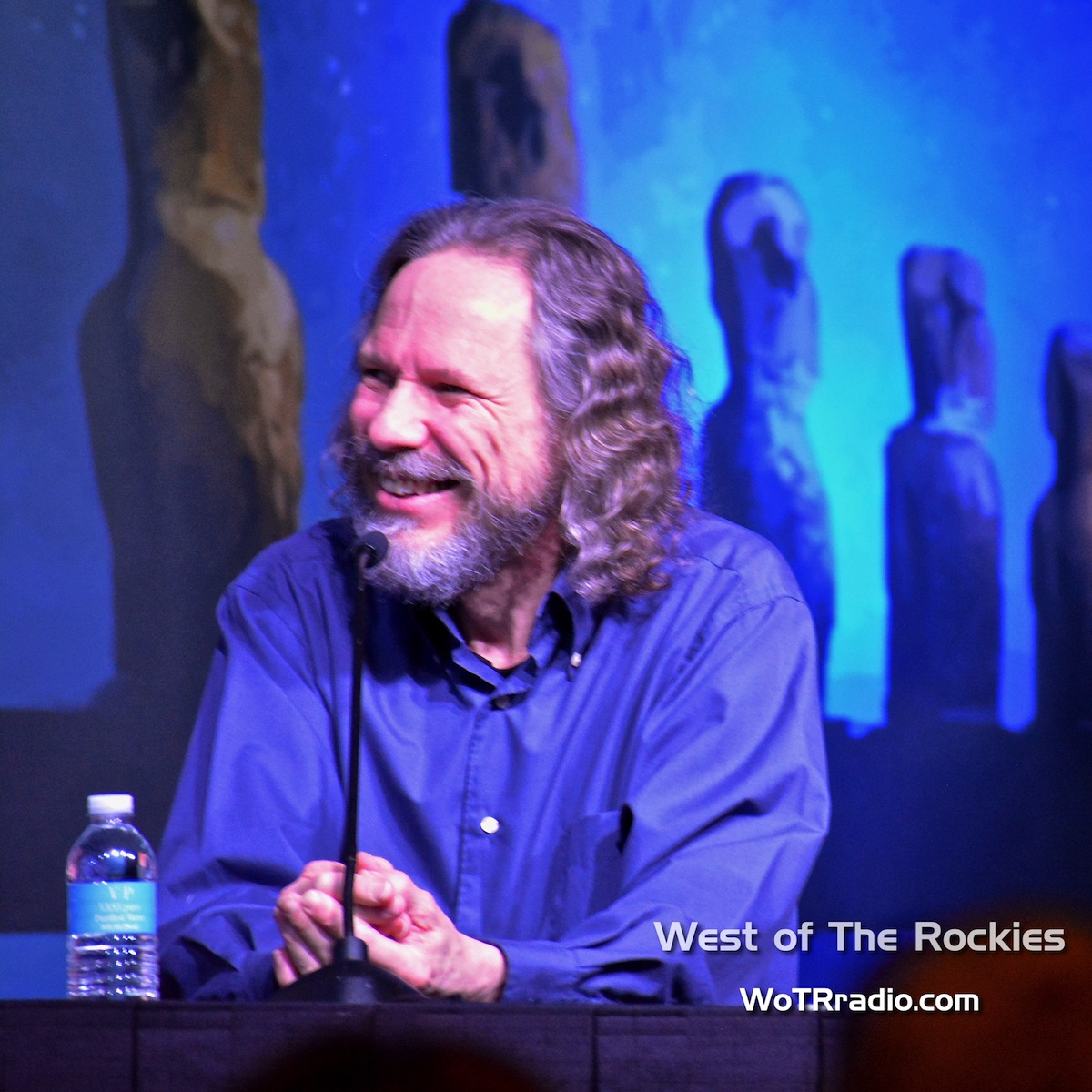 """Dr. Roberth Schoch during the """"Ancient Aliens: The Best Evidence"""" panel."""