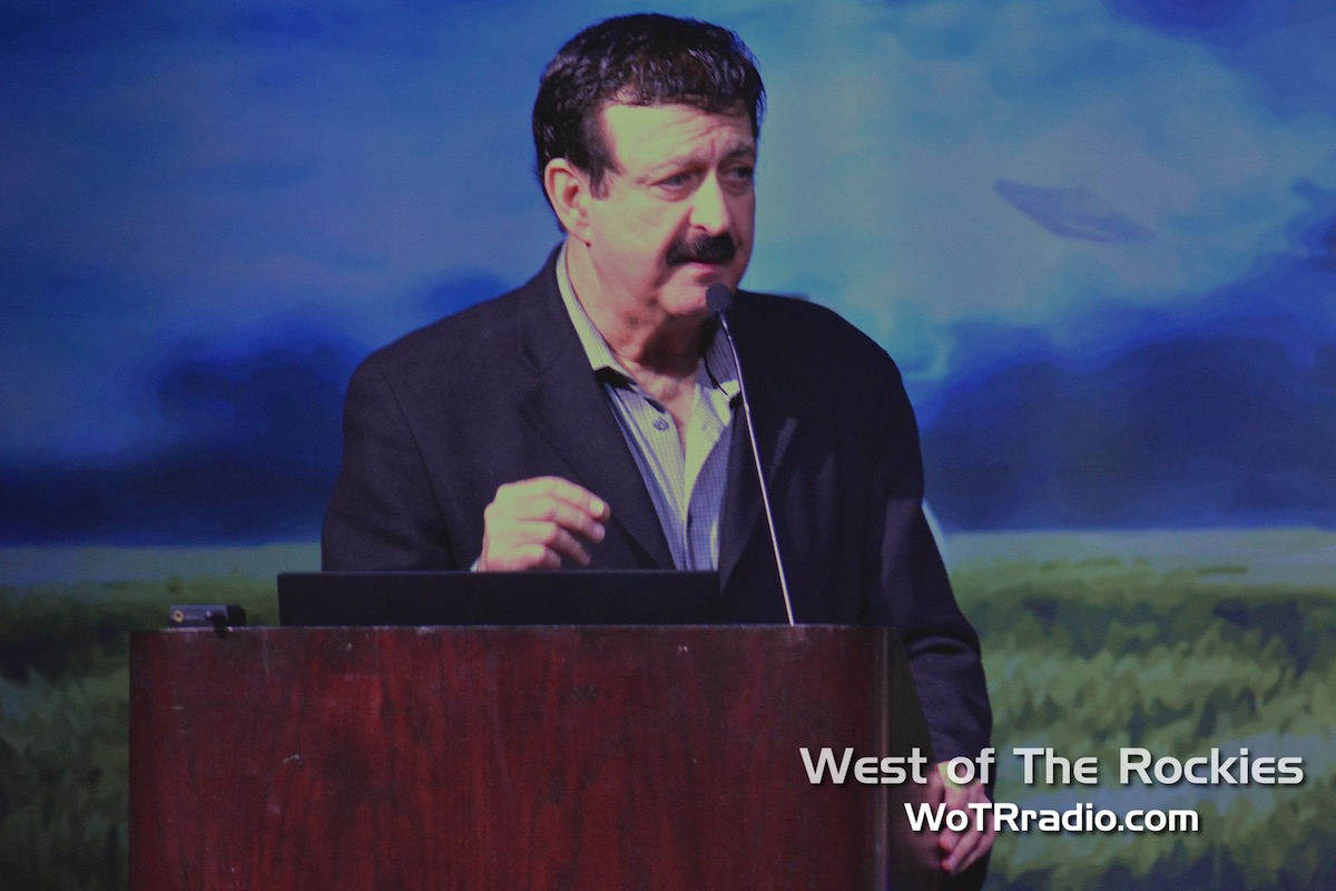 """Host of   Coast to Coast AM  ,  George Noory , during his panel, """"Ancient Aliens: The Best Evidence."""""""