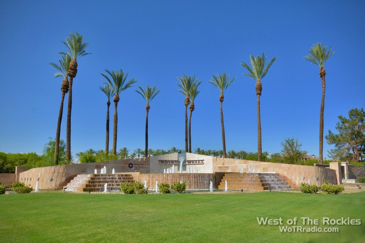 Entrance, Indian Wells Renaissance Spa & Hotel Resort. Contact In The Desert 2019.