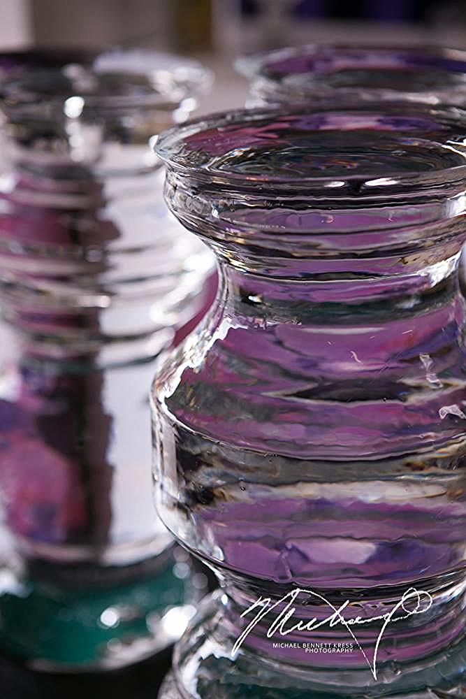 Flower Vase Lathe Ice Sculpture, by Ice Lab Washington D.C.