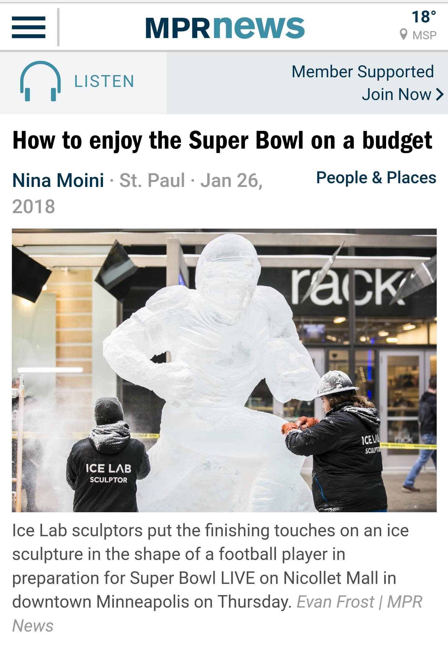 Official Super Bowl Ice Sculptors