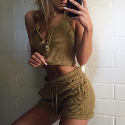Bailey Ribbed Top & Shorts | $85