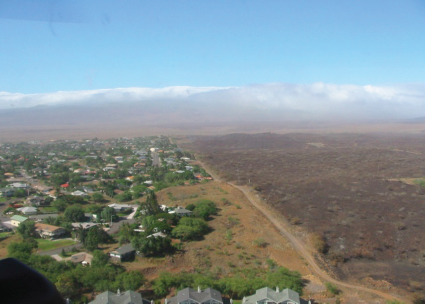 Above: Waikoloa Community Fuelbreak protected the Waikoloa Village from the State's largest wildfire (25,000 acres in 2005) in recent history.