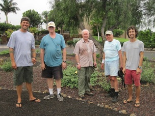 Above: Community members from Waikoloa Village pose for a photo after hard work removing weeds from the garden on March 7 after a long period of rainfall. Credit - HWMO