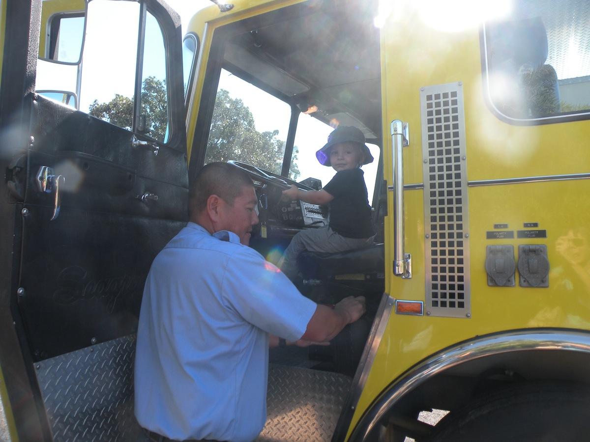 Future fire engine operator?