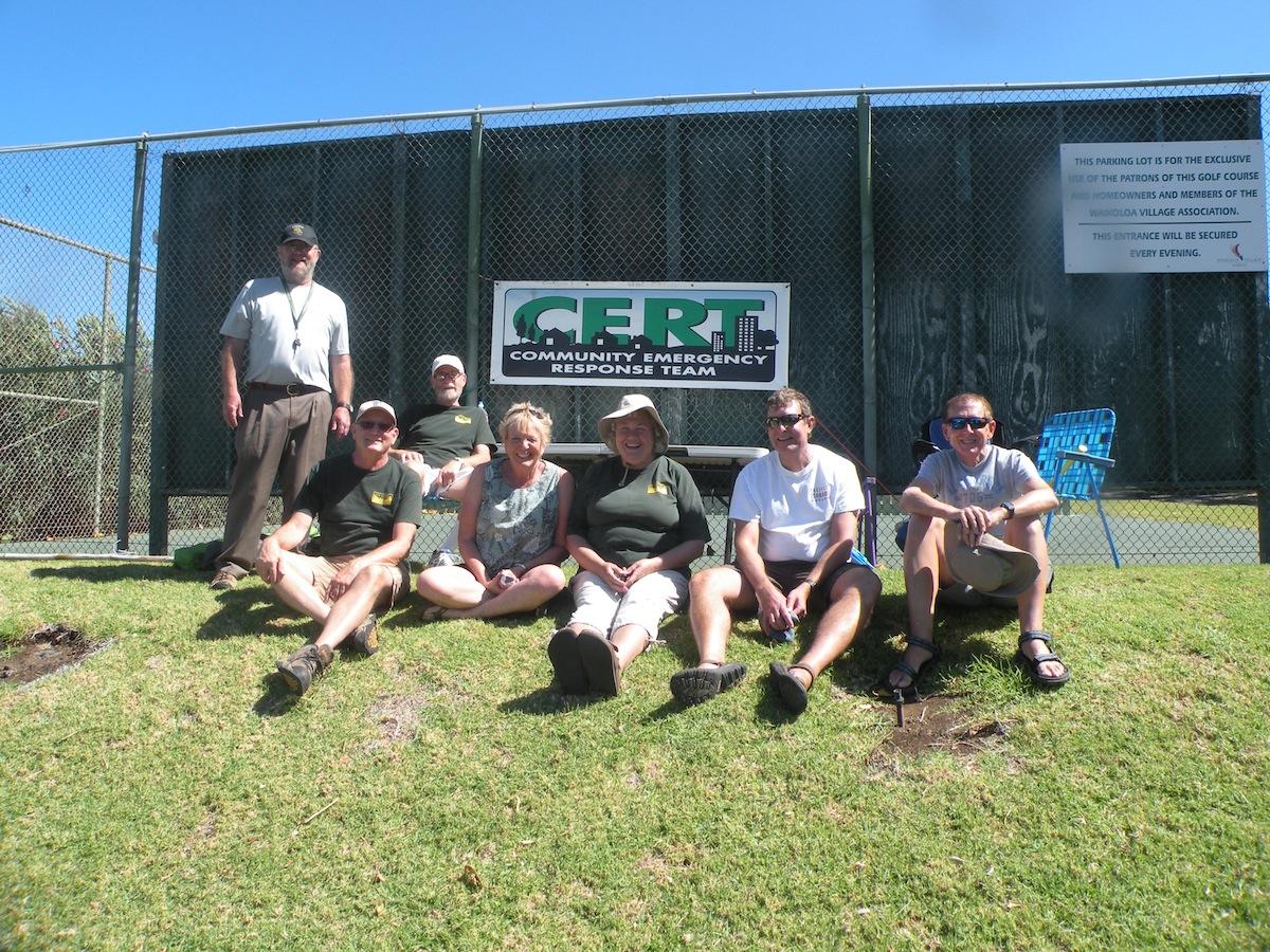 Waikoloa CERT members soak in the sun.