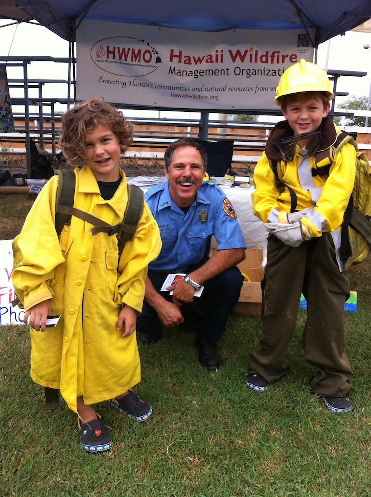 Load of fun playing dress-up at our Keiki Wildland Firefighter Photo-shoot at last year's festival.
